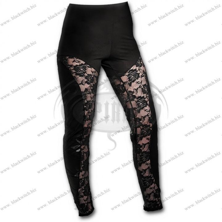 Inzet kanten leggings Gothic Elegance