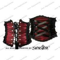 Korset Belt Zwart Rood