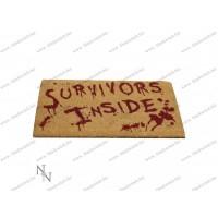 Binnen deurmat Overlevenden 45x75cm