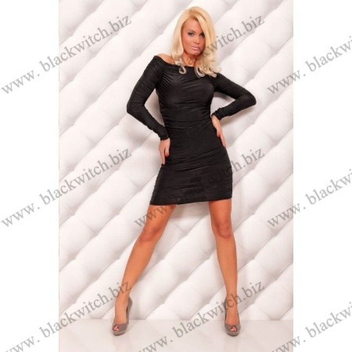 Sexy lange mouw mini jurk zwart