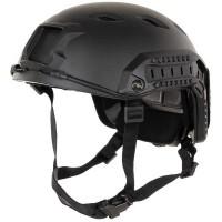 Amerikaanse helm, FAST parachutist, zwart, rails, ABS-kunststof