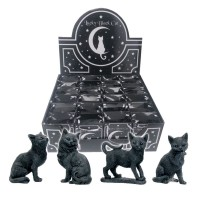 Lucky Black Cats 9cm (Display of 24) 6.5*4*9cm